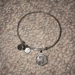 """T"" Alex and ani bracelet"
